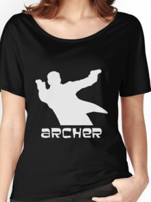 Archer silhouette white Women's Relaxed Fit T-Shirt