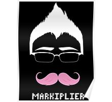 Markiplier/Warfstache (White Logo) Poster