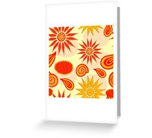 Floral pattern background  Greeting Card