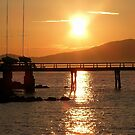 Sun Setting over English Bay by AnnDixon