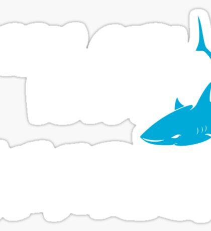 This girl loves Sharks Sticker