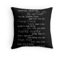 monsters big and small Throw Pillow
