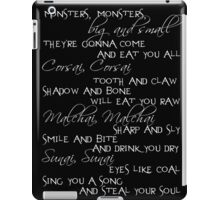 monsters big and small iPad Case/Skin