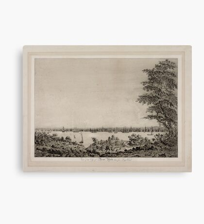 671 View of the City of New York taken from Long Island Canvas Print