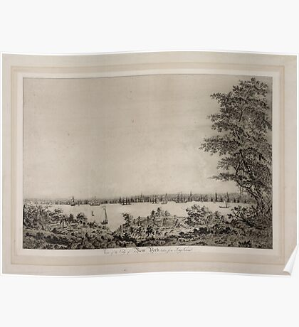 671 View of the City of New York taken from Long Island Poster