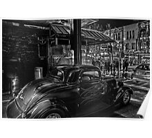 B&W on Auto Poster