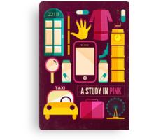 Sherlock Icons Poster Canvas Print