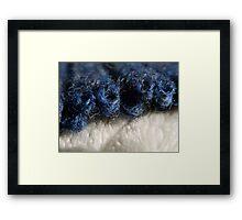BLUE WOOL - KNIT STITCHES Framed Print