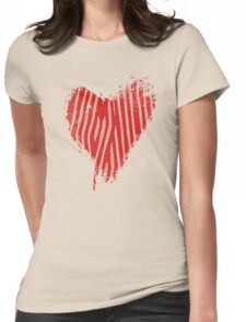 Grunge Heart - Love Valentine Womens Fitted T-Shirt