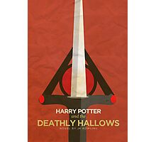 Harry Potter and the Deathly Hallows Minimalist Poster Photographic Print