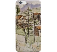 Anghiari. Tuscany Italy. Pen and wash. 2010Ⓒ iPhone Case/Skin