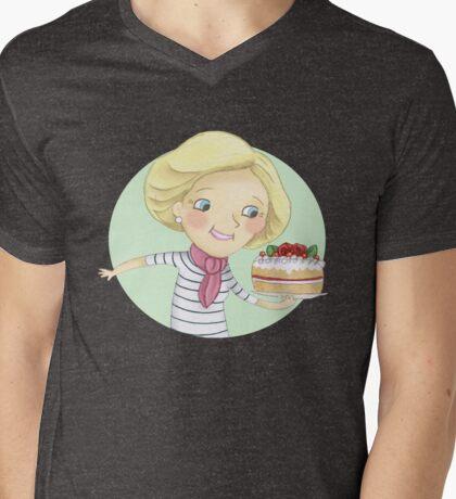 Mary Berry Mens V-Neck T-Shirt