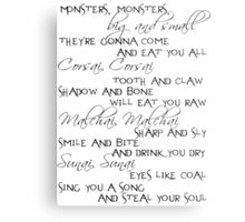 monsters, monsters Metal Print