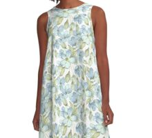 Pattern with delicate flowers A-Line Dress