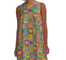 Decorated hearts A-Line Dress