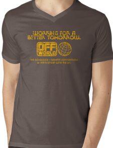 Blade Runner off world grunge Mens V-Neck T-Shirt