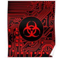 Red Biohazard (Cybergoth) Poster