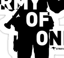 Army Of One (Light) - StrayaGaming Sticker