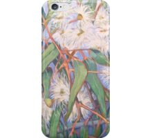 White gum blossom outside our window 2012Ⓒ. Oil on canvas iPhone Case/Skin