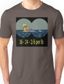 Joe & Petunia Mermaid - Vital Statistics joke Unisex T-Shirt