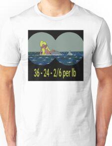Joe & Petunia Mermaid - Vital Statistics joke Unisex T-Shirt