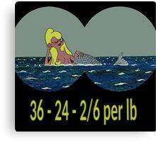Joe & Petunia Mermaid - Vital Statistics joke Canvas Print