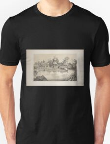 646 View of a rustic bridge and stone house From Central Park Album 1862 Unisex T-Shirt