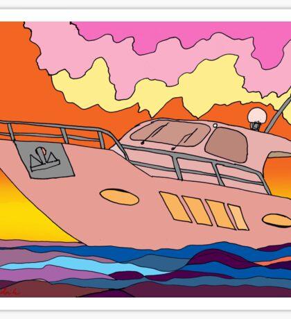 Sunset Boating Sticker