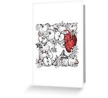 coronary apples Greeting Card