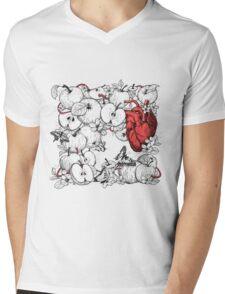 coronary apples Mens V-Neck T-Shirt
