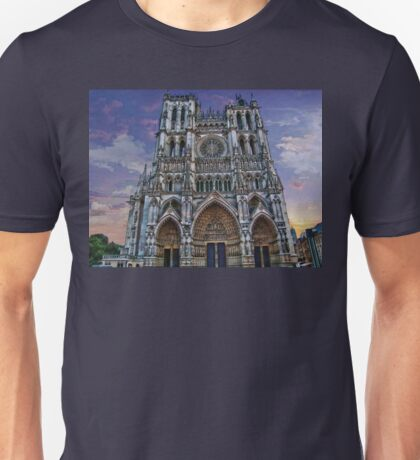 France. Amiens. Amiens Cathedral. T-Shirt