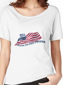 USA - Back to the Future - Trump & Pence Women's Relaxed Fit T-Shirt