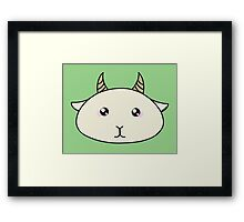 Goat - Farm animals collection Framed Print