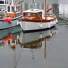 Reflections in Mevagissey by kalaryder