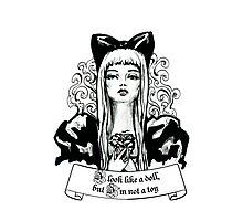 Fashion beautiful blond girl vintage illustration Photographic Print