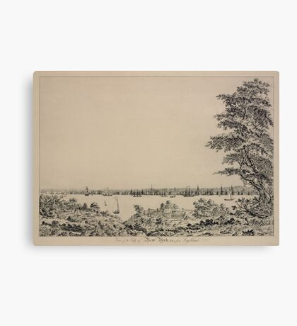 669 View of the City of New York taken from Long Island Canvas Print