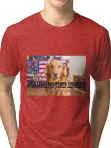 Even I vote for Trump and Pence Tri-blend T-Shirt