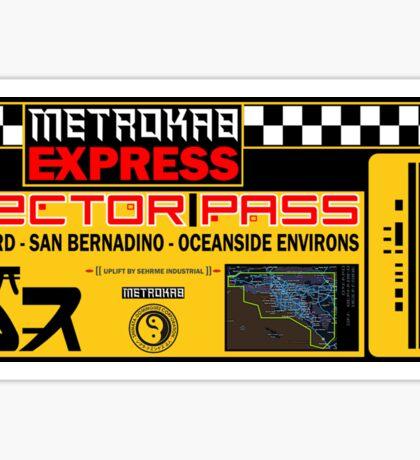 Blade Runner Metrokab Sticker
