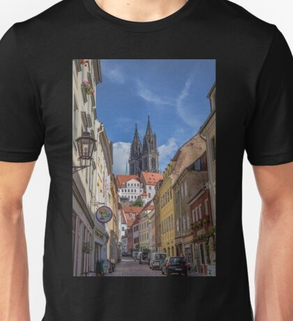 Germany. Meissen. Old Town. Street leading to the Cathedral. Unisex T-Shirt