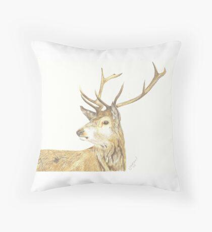 Scottish Stag Throw Pillow