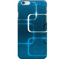 Abstract technical background with DNA and lights iPhone Case/Skin