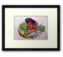 Artichokes with a touch of asparagus. 2012Ⓒ Framed Print