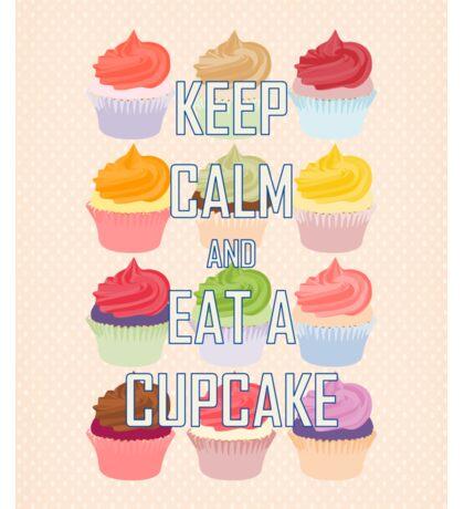 Keep Calm and Eat A Cupcake Sticker