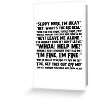 Slippy Quotes - Star Fox Greeting Card