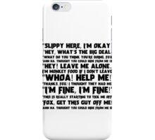 Slippy Quotes - Star Fox iPhone Case/Skin