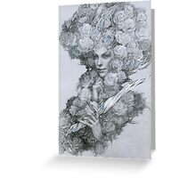 Garden guardian fairy with dagger Greeting Card