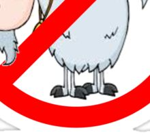 No Goats Scare ME! Sticker