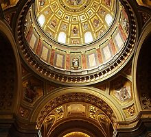 Interior of St Stephen's Basilica, Budapest by Ludwig Wagner