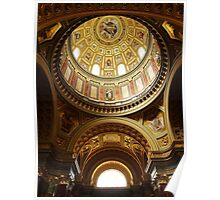 Interior of St Stephen's Basilica, Budapest Poster