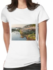 The passetto rocks at sunrise, Ancona, Italy Womens Fitted T-Shirt